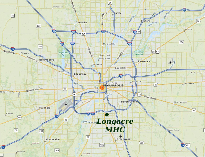 Longacre MHC Is Ideally Located In The Indianapolis Area